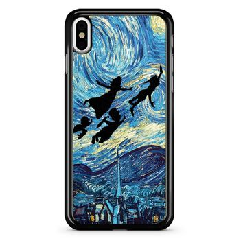 The Starry Night Peter Pan iPhone X Case
