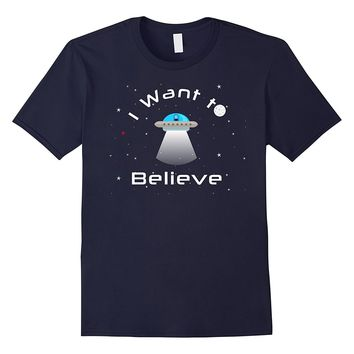 Alien UFO T-shirt Funny I Believe Spaceship Galaxies Ancient