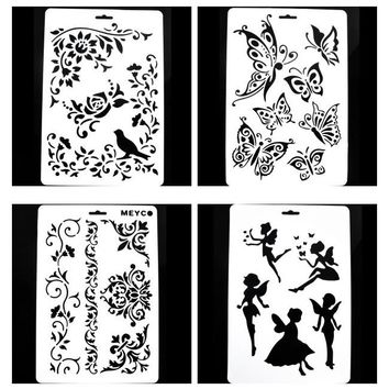 Layering Painting Template Stencils Scrapbooking/photo album Decorative Paper Cards Crafts Flower Letter Stencil