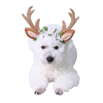 Christmas Dog Hats Hair Accessories, , Antlers head hoop,  Dress up items
