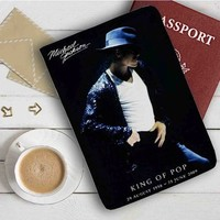 King of Pop Michael Jackson Leather Passport Wallet Case Cover