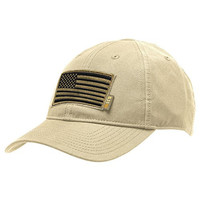 5.11 Flag Bearer Cap Bundle - Khaki (USA Patch + Hat)