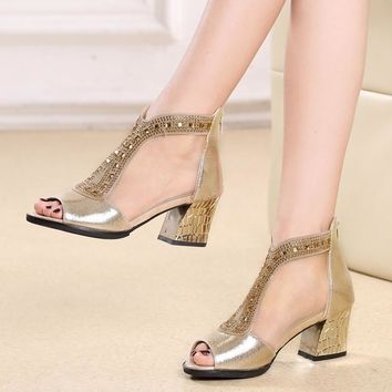 2016 sexy women sandals strappy heels shoes platform women shoes summer gladiator sand