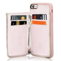 iPhone 6 Wallet Case, iPhone 6s Leather Case, LAMEEKU Shockproof iPhone 6 Card Holder case