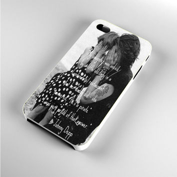 Johnny Depp qoute iPhone 4s Case