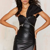 Nasty Gal Big Trouble Vegan Leather Dress