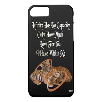 Infinity Just Because Love Greeting by Kat Worth iPhone 7 Case