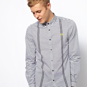 Fred Perry Shirt with Horizontal Stripe