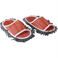 Plaid Dust Mop Slippers
