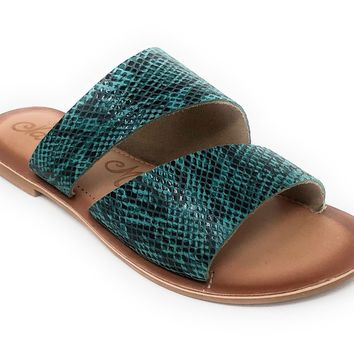 Naughty Monkey Spirited Turquoise Sandals