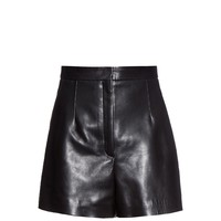 High-waist leather shorts | Balenciaga | MATCHESFASHION.COM UK