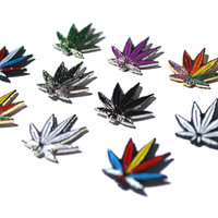 Mini Weed Leaf Hat Pin