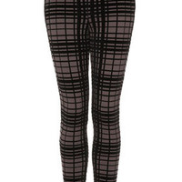 Flock Grid Ponte Treggings - Leggings  - Clothing