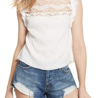 Free People Simply Smiles Crochet Top | Nordstrom