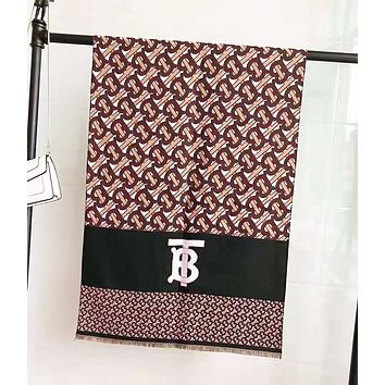 Burberry Autumn And Winter New Fashion More Letter Print Women Scarf