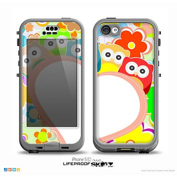 The Cartoon Owls with Big Heart Skin for the iPhone 5c nüüd LifeProof Case