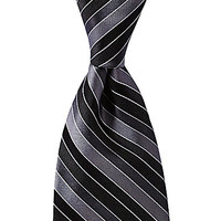Murano Cell-Stripe Silk Tie