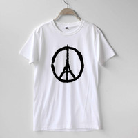 Pray for Paris Shirt Peace Eiffel Tower Shirt TShirt T-Shirt T Shirt Tee