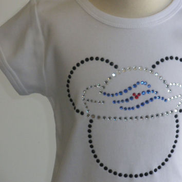 3T 4T 5T 6 8 10 12 Sailor Mickey/Minnie hot fix rhinestone Disney Cruise t-shirt