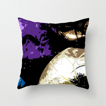 Throw Pillow Cover, Island Abstract, 16x16, 18x18, 20x20, Home Décor, Decorative, Home & Living, Photography, Purple Turquoise, Etsy ArtBJC