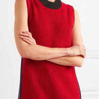 Burberry - Ribbed wool and cashmere-blend tank