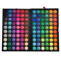 Women's Pro 120 Full Color Eyeshadow Cosmetics Mineral Make Up Eye Shadow Palette Kit