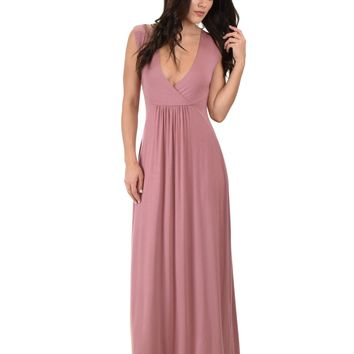Lyss Loo Sweetest Kiss Sleeveless Mauve Maxi Dress