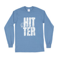 Lucky Dog Volleyball :: Women's Wear :: Big Hitter Position Long Sleeve Volleyball Tee Shirt11.167.B44.2X