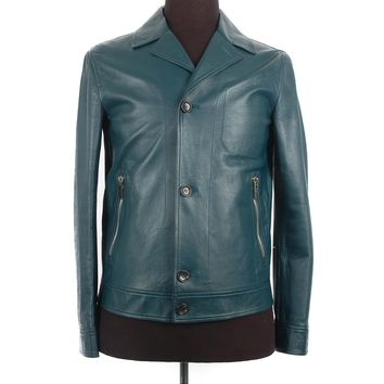 Bally Teal Leather Jacket