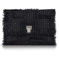 Proenza Schouler - The Lunch Bag large leather-paneled tweed clutch