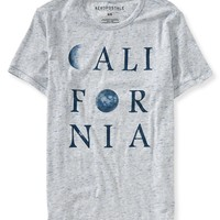 Aeropostale  Mens California Moon Graphic T-Shirt - Gray
