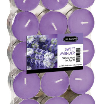 USA Tealight Sweet Lavander Tealights, 30-Pack