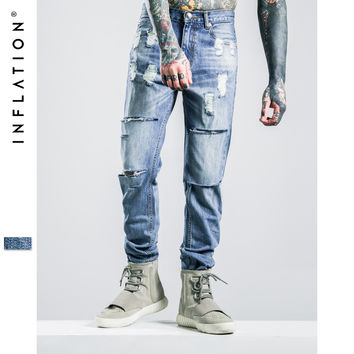 Mens Ripped Jeans Washing Hip Hop Autumn For Men Straight Men Skinny Jeans