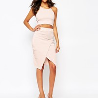 Boohoo Wrap Pencil Skirt
