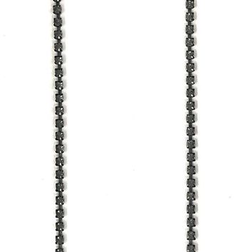 Sorrelli Multi-Cut Round Crystal Cluster Line Necklace Evening Moon