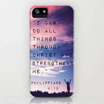 Philippians 4:13 Case Free Shipping by Caleb Troy