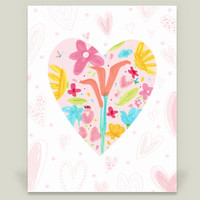 The Heart is a Garden of Beauty Art Print by StudioAimee on BoomBoomPrints