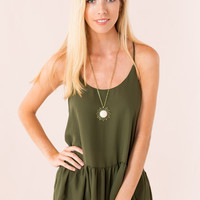 Babydoll Cami in Green