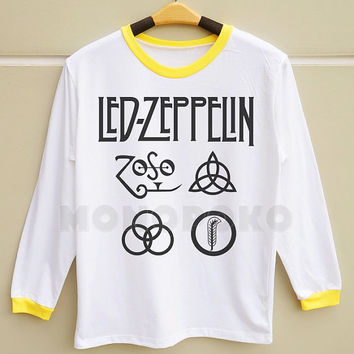 S M L -- Led Zeppelin TShirts Led Zeppelin Shirts Rock TShirts Women Long Sleeve TShirts Men Long Sleeve TShirts Women TShirts Men TShirts