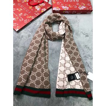 GUCCI New fashion More Letter Comfortable Warm Scarf Women
