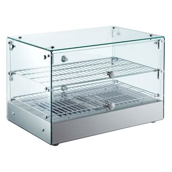 """Commercial Countertop Heated Display Case with Straight Glass 22"""""""
