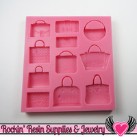 Fashion Handbag PURSE SILICONE MOLD, Food Grade