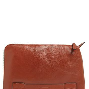 Men's Ben Minkoff 'Warren' Leather Pouch - Brown