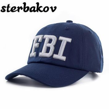 FBI Caps Ourdoor 5 Panel Baseball Cap Brand Snapback Hat Bone FBI Snapback For Men High Quality Tactical Cap Size 55-59cm caps