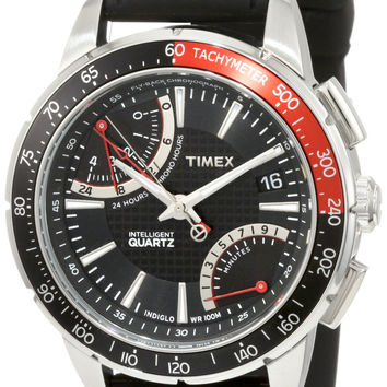 Timex Men's T2N705 Intelligent Quartz SL Series Fly-Back Chronograph Black Silicone Strap Watch