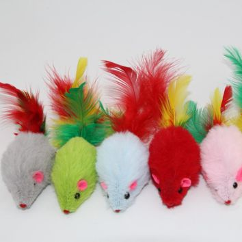 Westrice The Cat Toy with The Mouse Tail Feather Ex Factory Price Dumping 60 Cheap Mini Funny Playing Toys for Cats Kitten