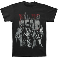 Walking Dead Men's  Hands Reaching T-shirt Black