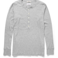Gant Rugger - Long-Sleeved Cotton-Blend Jersey Henley T-Shirt | MR PORTER