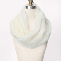 Faux Fur Ribbed Infinity Scarf
