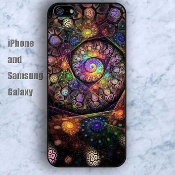 cartoon watercolor revolve iPhone 5/5S Ipod touch Silicone Rubber Case, Phone cover